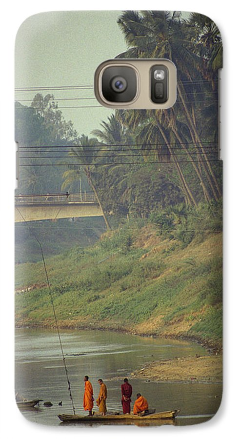 Monks Galaxy S7 Case featuring the photograph Monks - Battambang by Patrick Klauss