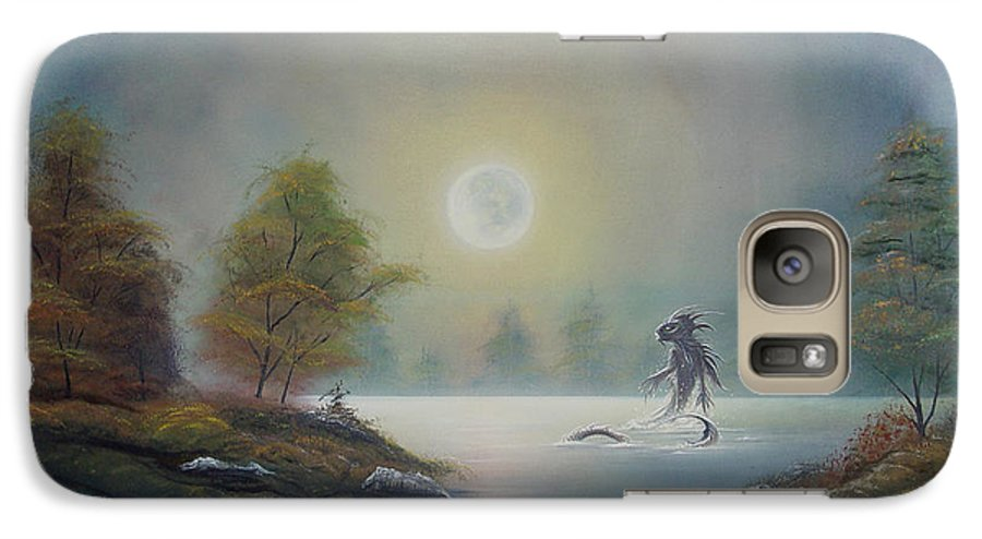 Landscape Galaxy S7 Case featuring the painting Monstruo Ness by Angel Ortiz