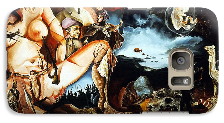 War Galaxy S7 Case featuring the painting Monument To The Unborn War Hero by Otto Rapp