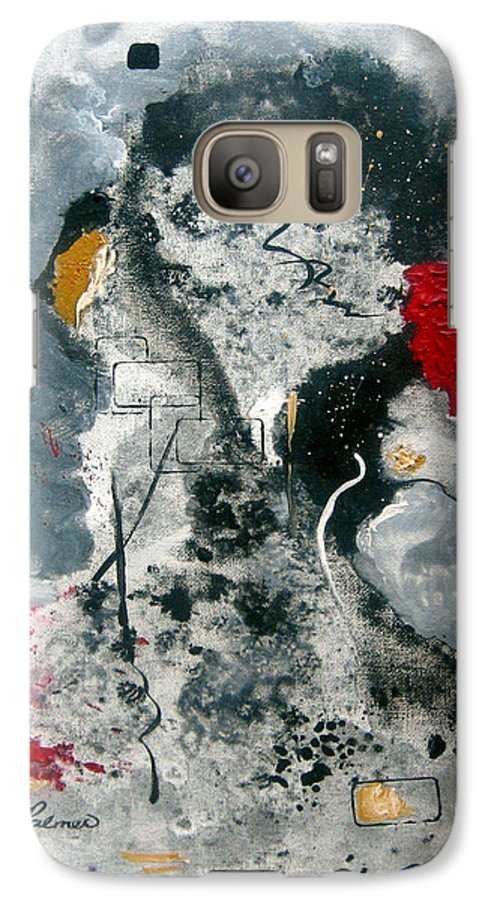 Abstract Galaxy S7 Case featuring the painting Moods by Ruth Palmer