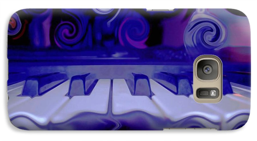 Music Galaxy S7 Case featuring the photograph Moody Blues by Linda Sannuti