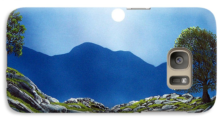 Landscape Galaxy S7 Case featuring the painting Moonrise by Frank Wilson