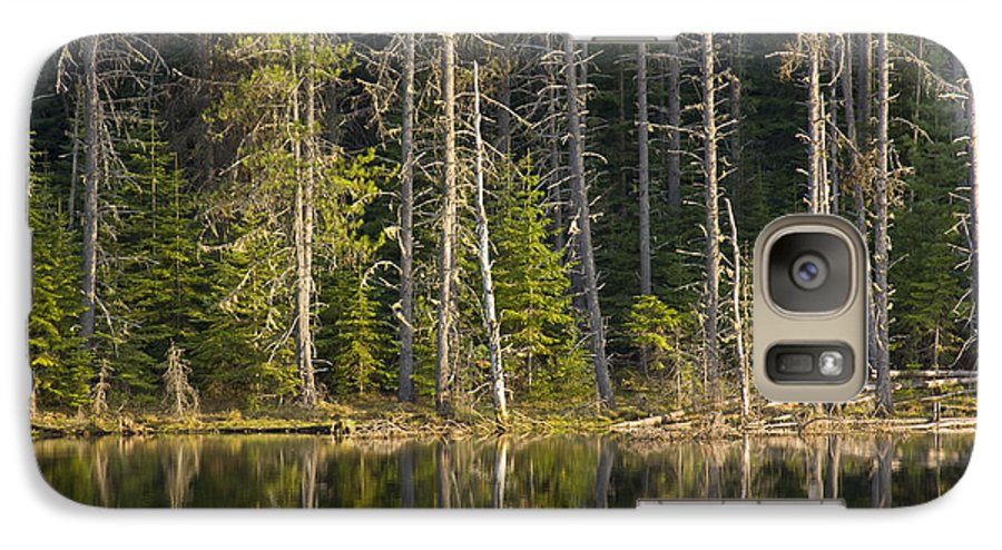 Trees Galaxy S7 Case featuring the photograph Moose Creek Reservoir by Idaho Scenic Images Linda Lantzy