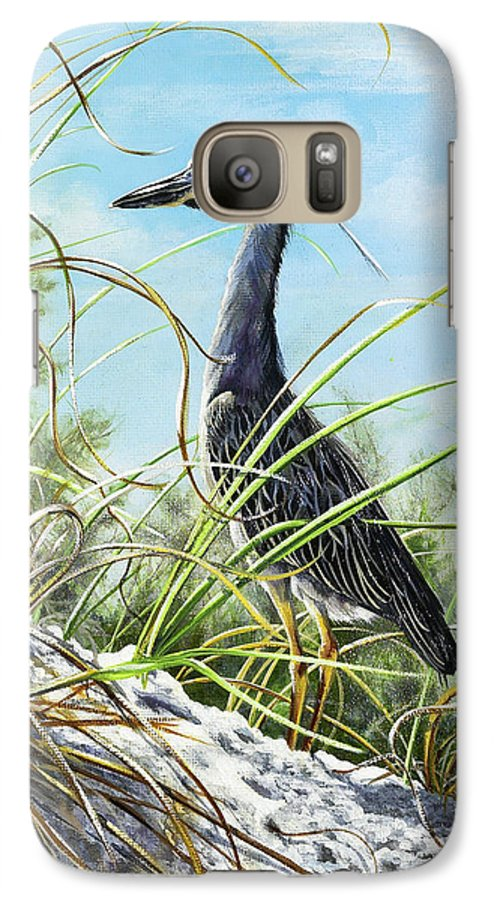 Bird Galaxy S7 Case featuring the painting Morning Hunt by Joan Garcia