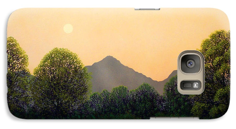 Landscape Galaxy S7 Case featuring the painting Morning Light by Frank Wilson