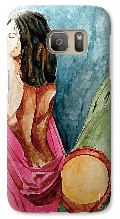 Nudes Women Galaxy S7 Case featuring the painting Morning Light by Herschel Fall