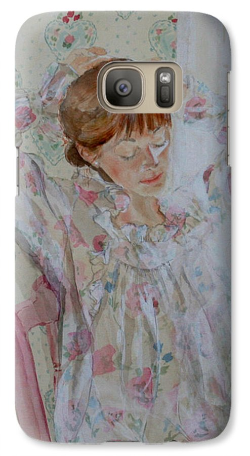 Morning Galaxy S7 Case featuring the painting Morning Ritual by Jean Blackmer