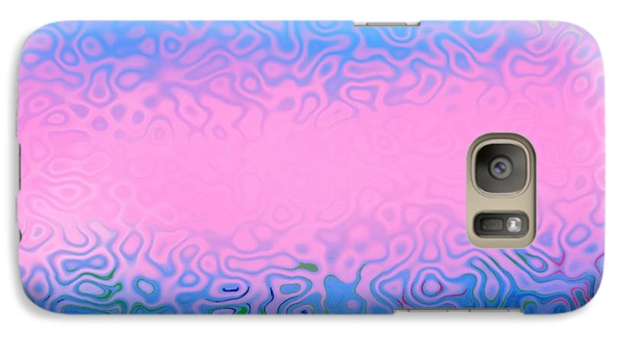 Morning.sea.fog.sun.water Illusions.morning Cold.colors Blue.rose. Galaxy S7 Case featuring the digital art Morning Sea Fog.cold Water by Dr Loifer Vladimir