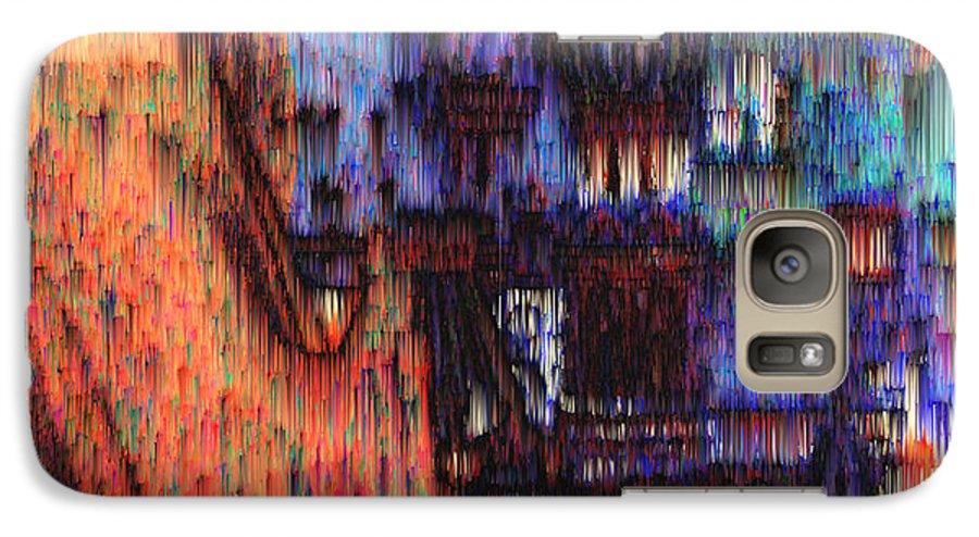 Fog Galaxy S7 Case featuring the digital art Moscow In The Rain by Seth Weaver