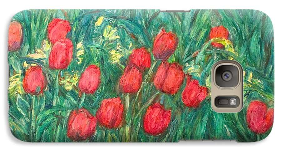 Kendall Kessler Galaxy S7 Case featuring the painting Mostly Tulips by Kendall Kessler