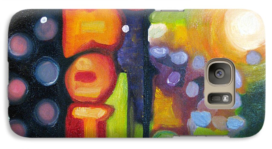 N Galaxy S7 Case featuring the painting Motel Lights by Patricia Arroyo