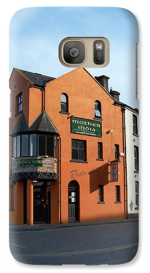 Ireland Galaxy S7 Case featuring the photograph Mother India Restaurant Athlone Ireland by Teresa Mucha