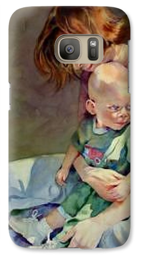 Mother And Child Galaxy S7 Case featuring the painting Mother Love by Marlene Gremillion