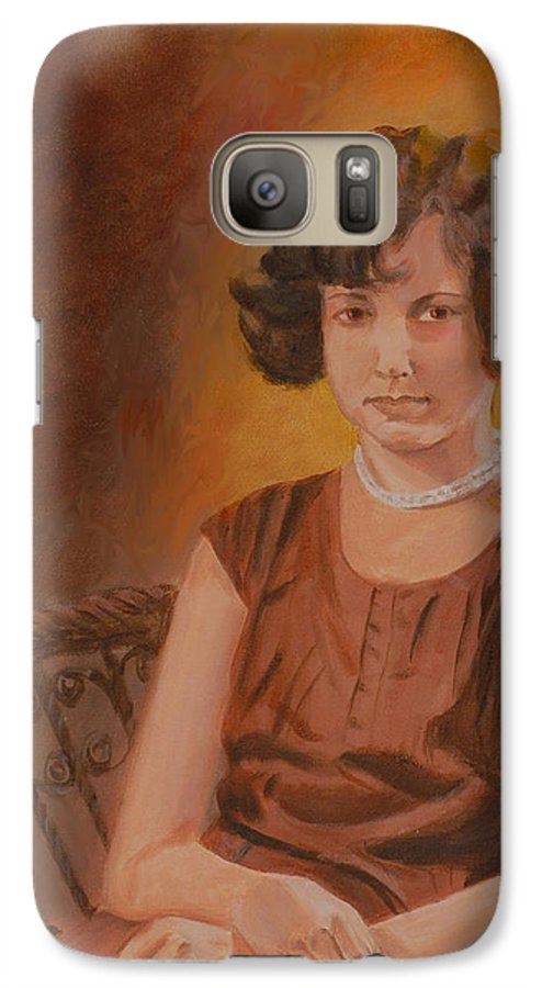 Woman Galaxy S7 Case featuring the painting Mother by Quwatha Valentine