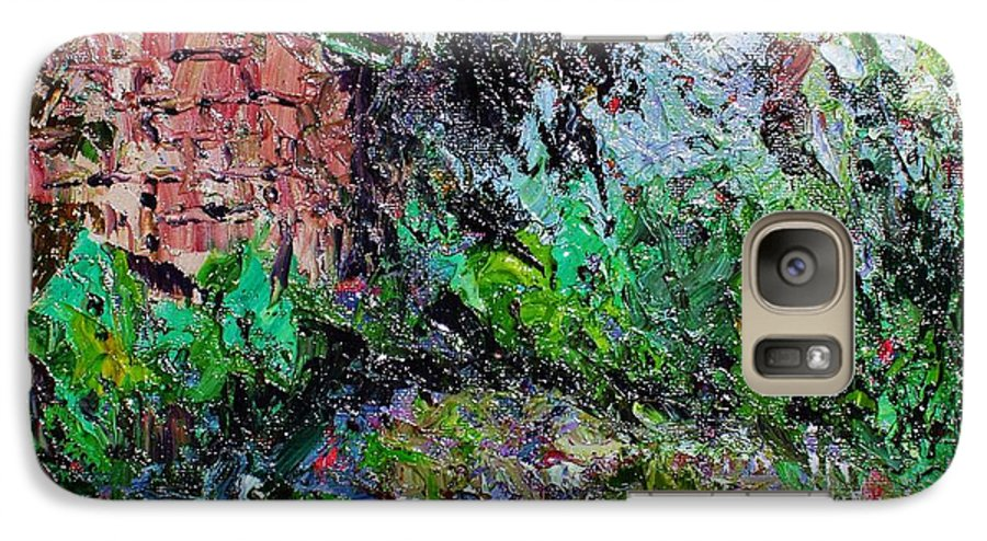 Garden Paintings Galaxy S7 Case featuring the painting Mother by Seon-Jeong Kim