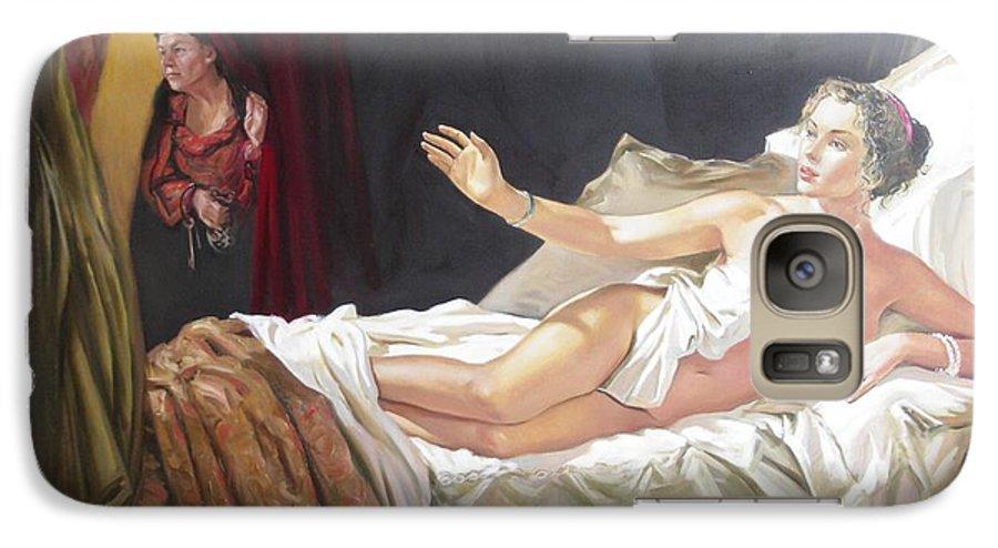 Ignatenko Galaxy S7 Case featuring the painting Motif Of Danae by Sergey Ignatenko