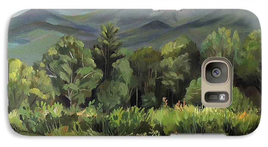 White Mountain Paintngs Galaxy S7 Case featuring the painting Mount Lafayette From Sugar Hill New Hampshire by Nancy Griswold
