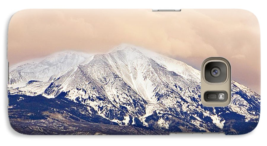 Americana Galaxy S7 Case featuring the photograph Mount Sopris by Marilyn Hunt