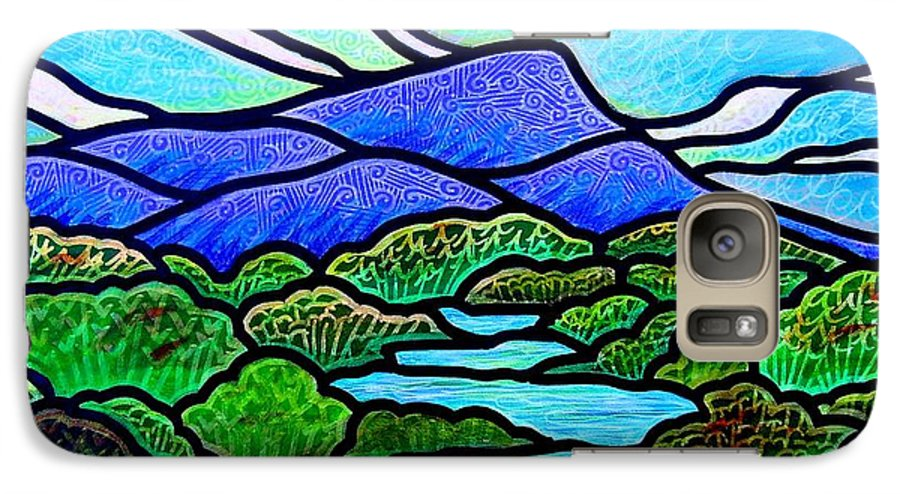 Paintings Galaxy S7 Case featuring the painting Mountain Glory by Jim Harris