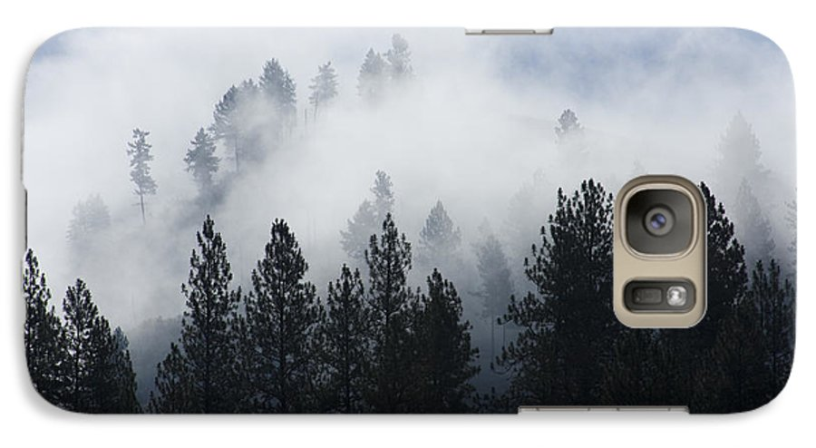Fog Galaxy S7 Case featuring the photograph Mountain Mist by Idaho Scenic Images Linda Lantzy