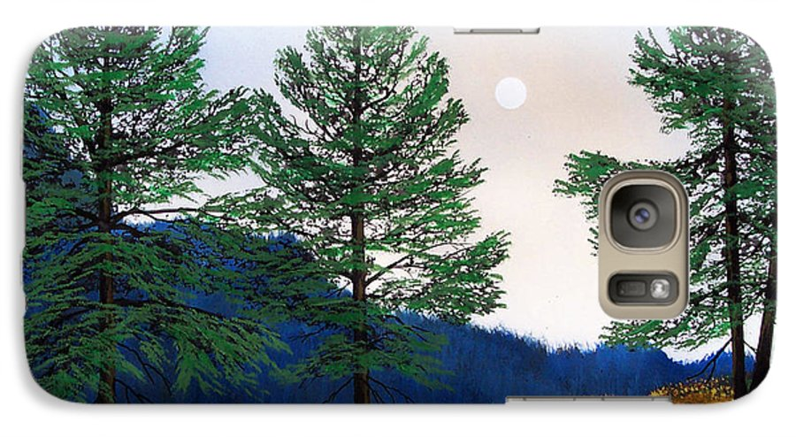 Galaxy S7 Case featuring the painting Mountain Pines by Frank Wilson