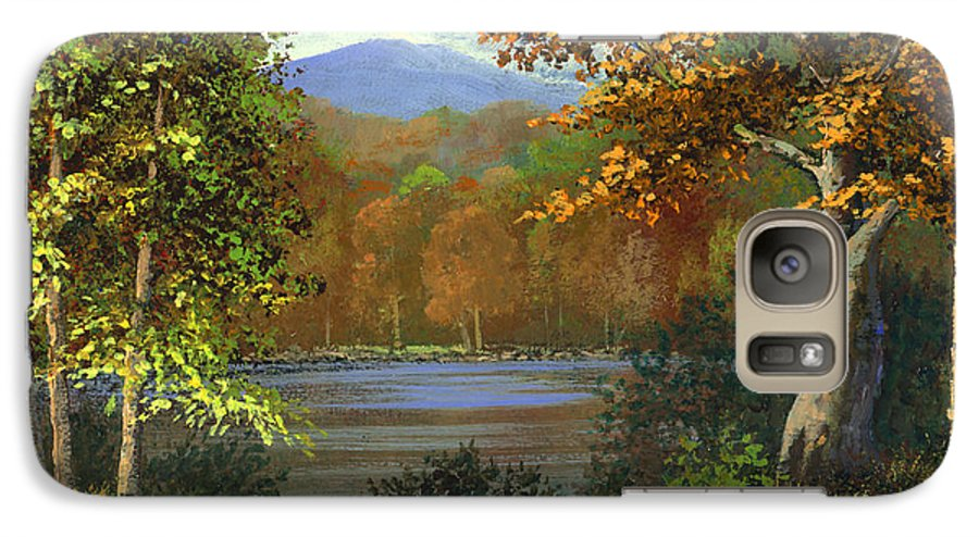 Landscape Galaxy S7 Case featuring the painting Mountain Pond by Frank Wilson