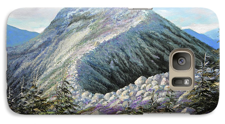 Landscape Galaxy S7 Case featuring the painting Mountain Ridge by Frank Wilson