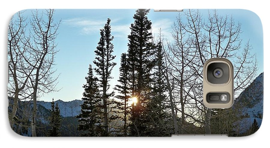 Rural Galaxy S7 Case featuring the photograph Mountain Sunset by Michael Cuozzo