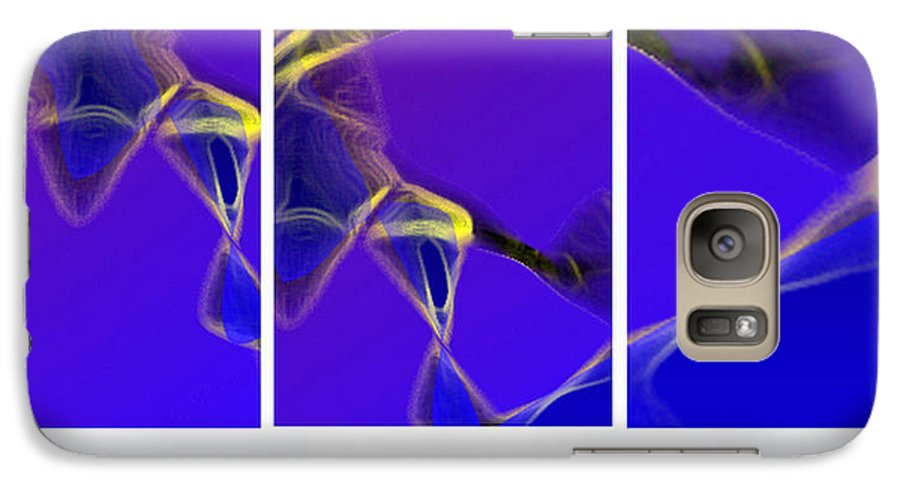 Abstract Galaxy S7 Case featuring the digital art Movement In Blue by Steve Karol