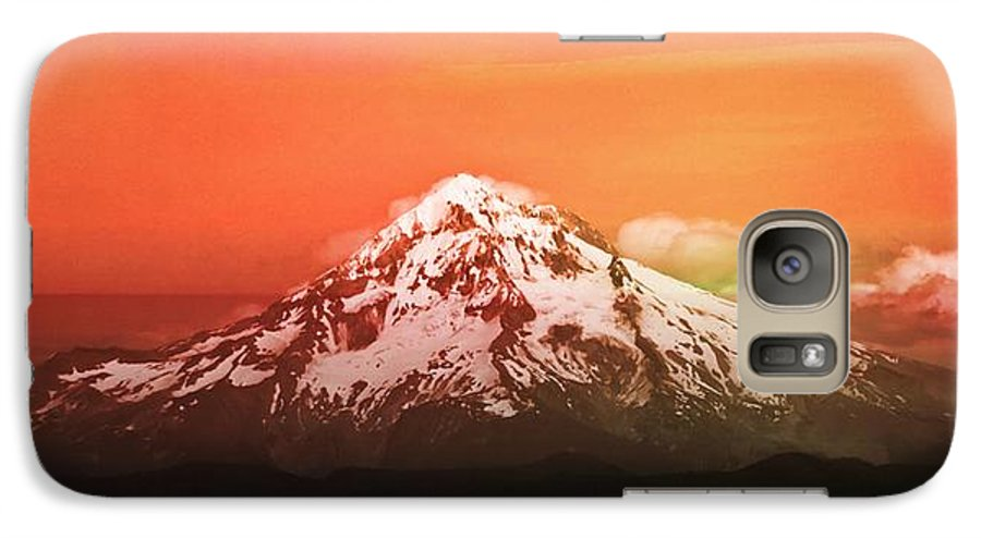 Mt Hood Galaxy S7 Case featuring the photograph Mt Hood Oregon Sunset by Aaron Berg