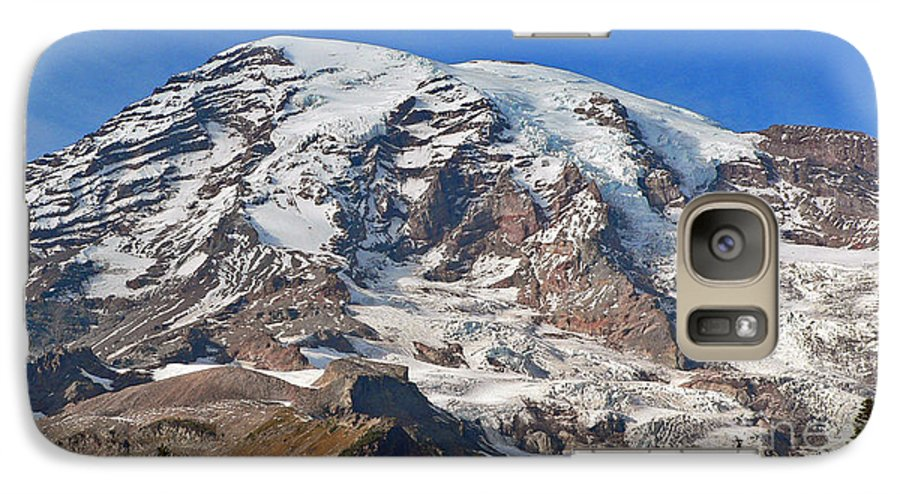 Mountains Galaxy S7 Case featuring the photograph Mt. Rainier In The Fall by Larry Keahey