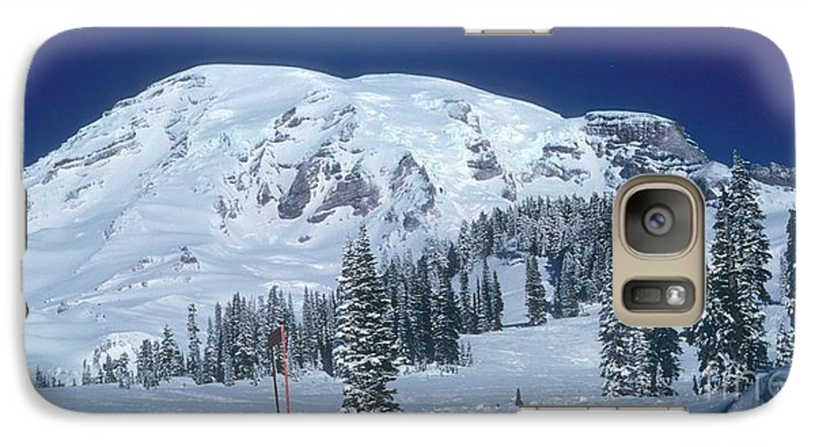 Mt. Rainier Galaxy S7 Case featuring the photograph Mt. Rainier by Larry Keahey