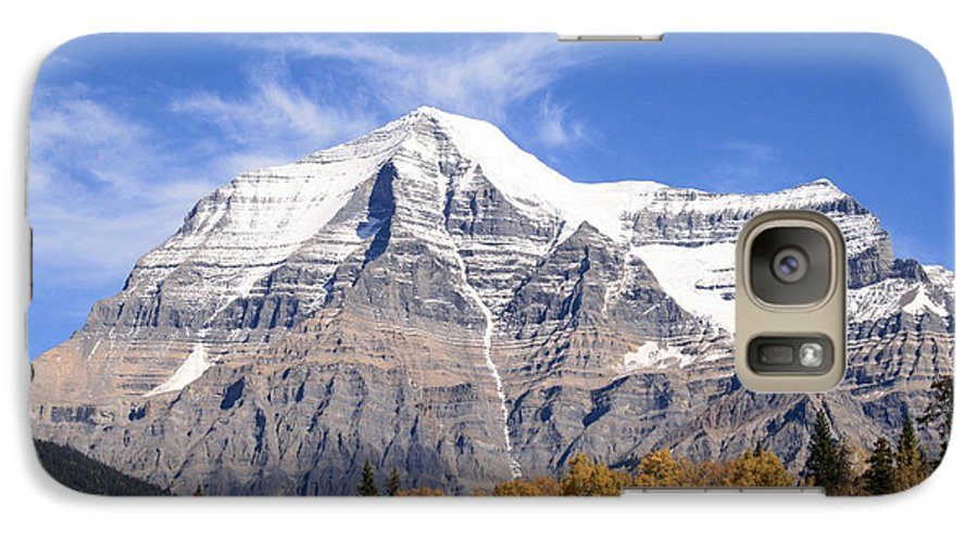 Rocky Mountain Galaxy S7 Case featuring the photograph Mt. Robson- Canada's Tallest Peak by Tiffany Vest
