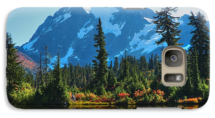 Mt. Shuksan Galaxy S7 Case featuring the photograph Mt. Shuksan by Idaho Scenic Images Linda Lantzy