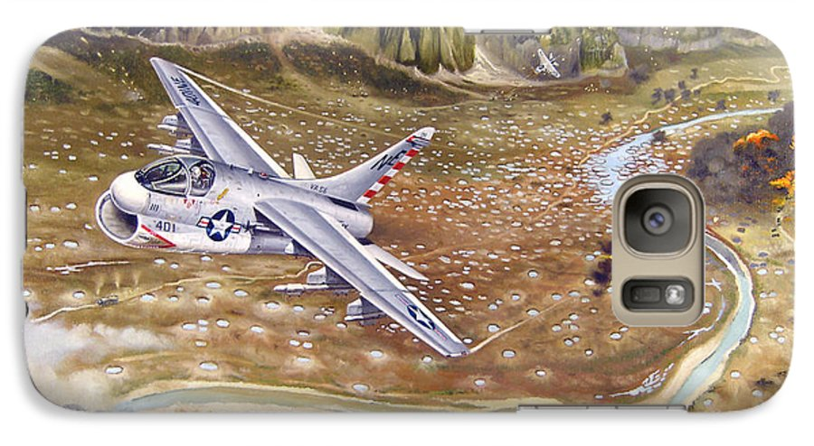 Aviation Galaxy S7 Case featuring the painting Mu Gia Mayhem by Marc Stewart