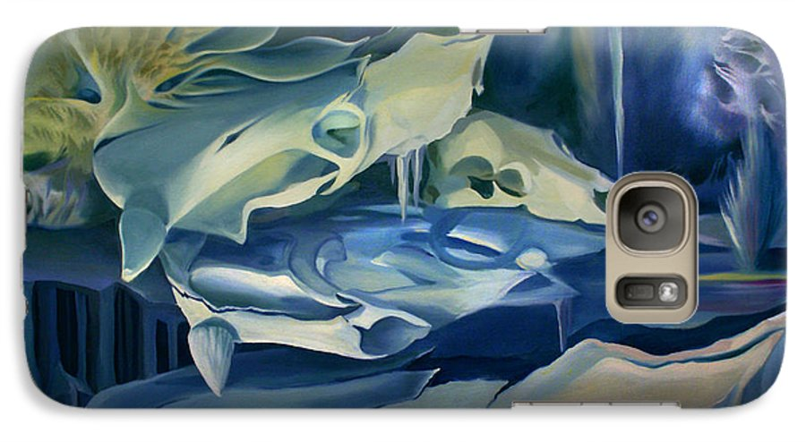 Mural Galaxy S7 Case featuring the painting Mural Skulls Of Lifes Past by Nancy Griswold