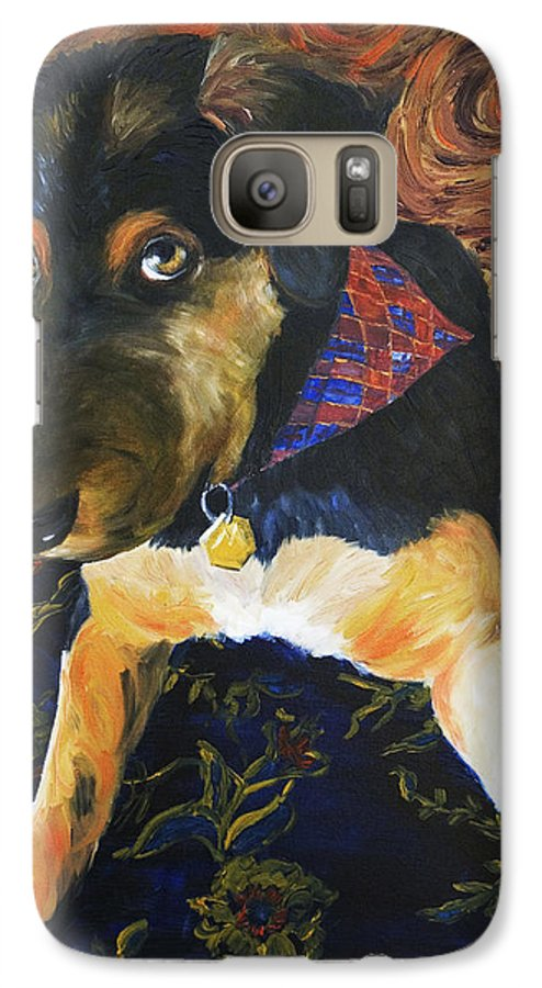Dog Galaxy S7 Case featuring the painting Murphy I by Nik Helbig