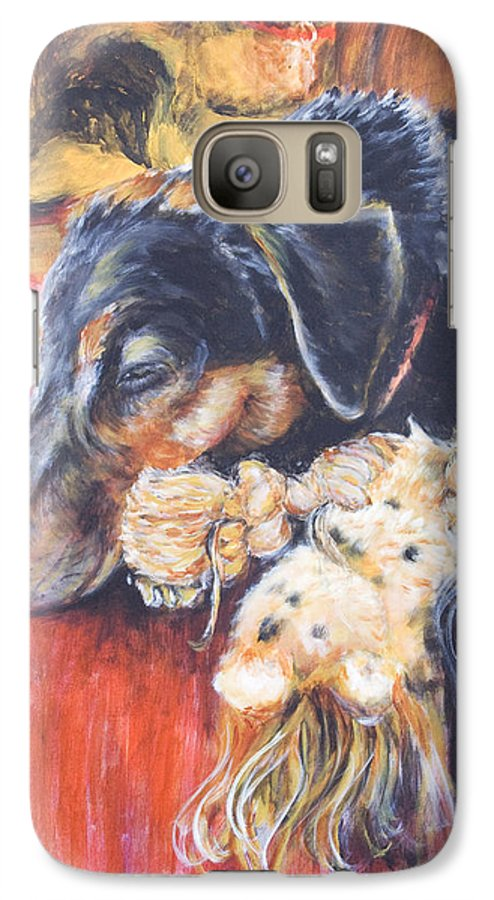 Dog Galaxy S7 Case featuring the painting Murphy Viii by Nik Helbig