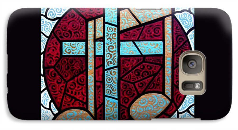 Cross Galaxy S7 Case featuring the painting Music Of The Cross by Jim Harris