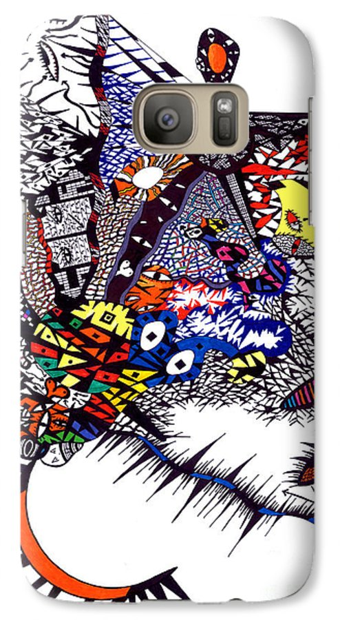 Feelings Galaxy S7 Case featuring the painting My Feelings by Safak Tulga