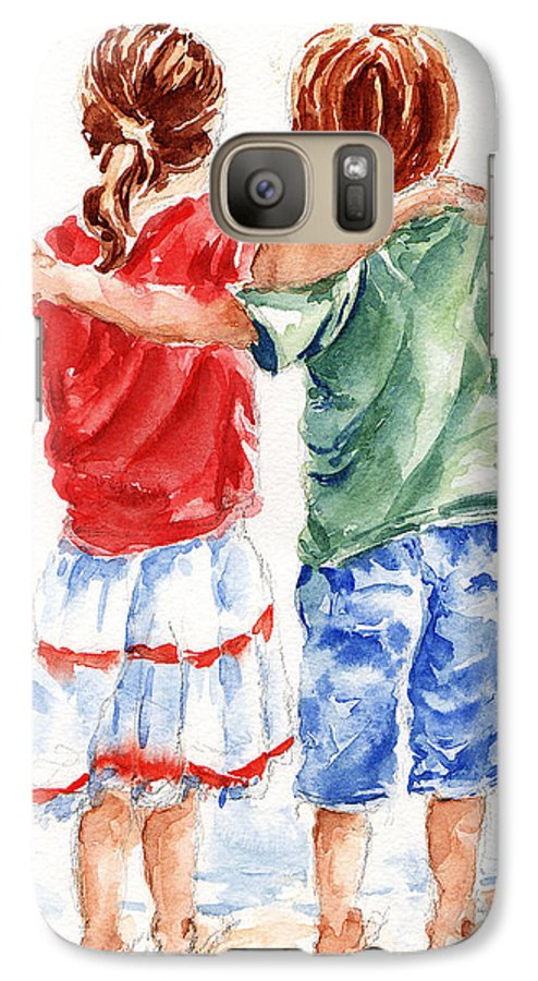 Watercolour Galaxy S7 Case featuring the painting My Friend by Stephie Butler