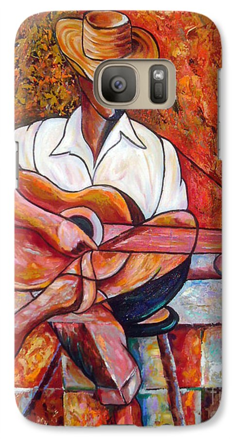 Cuba Art Galaxy S7 Case featuring the painting My Guitar by Jose Manuel Abraham