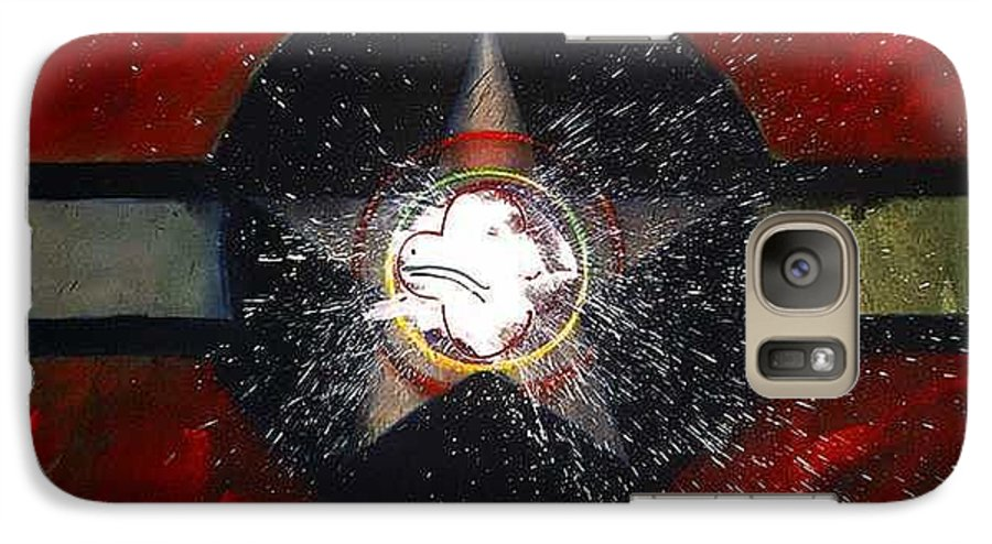 Usaaf Insignia Galaxy S7 Case featuring the painting My Indian Red by Charles Stuart