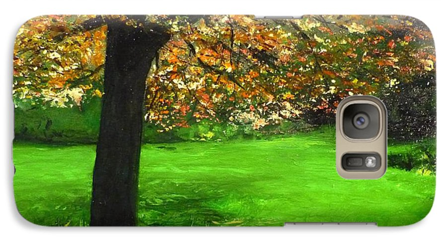 Spiritualism Galaxy S7 Case featuring the painting My Love Of Trees I by Lizzy Forrester