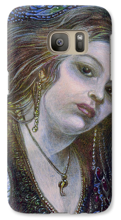 Fantasy Galaxy S7 Case featuring the painting My Mermaid Christan by Otto Rapp