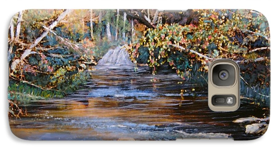 Peace Project Galaxy S7 Case featuring the painting My Secret Place by Ben Kiger