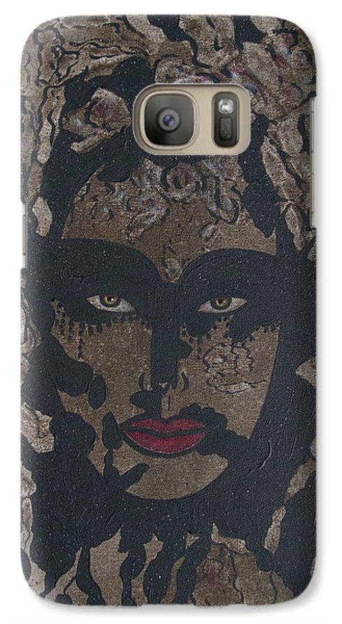 Figurative Galaxy S7 Case featuring the painting Mysterious Desire by Natalie Holland