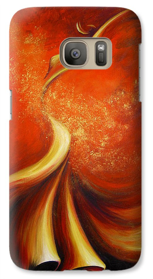 Figure Study Galaxy S7 Case featuring the painting Mystery Dance by Dina Dargo