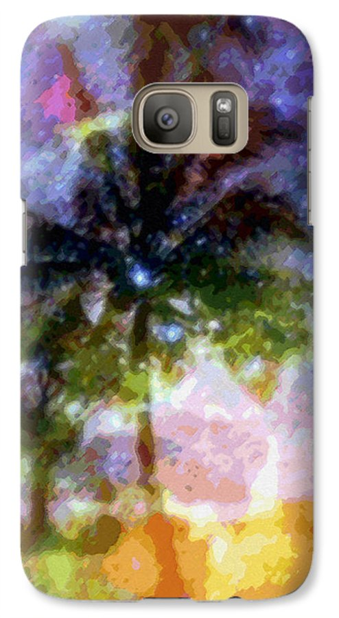 Tropical Interior Design Galaxy S7 Case featuring the photograph Mystic Palm by Kenneth Grzesik