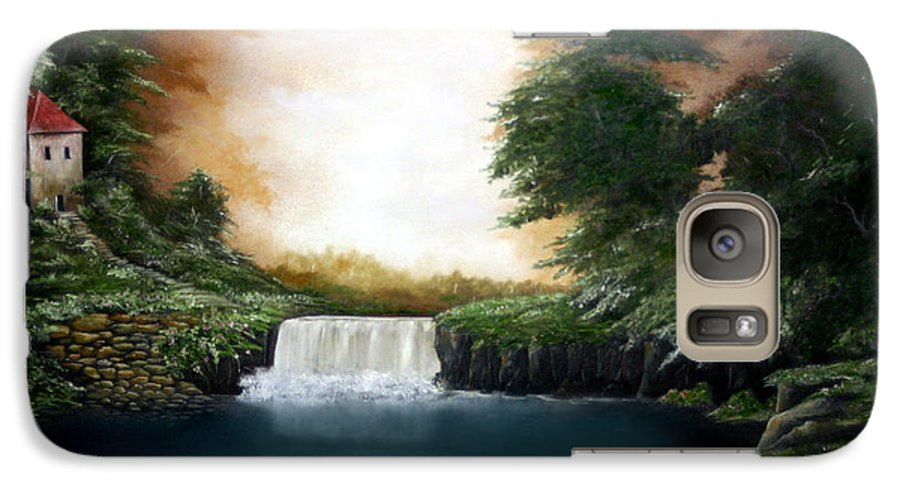 Falls Galaxy S7 Case featuring the painting Mystical Falls by Ruben Flanagan